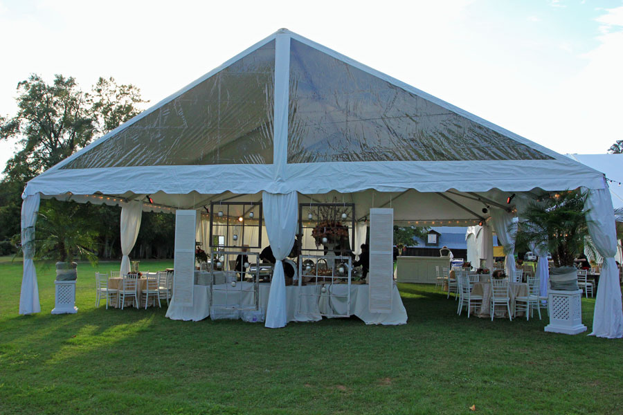 Clear Gable Ends On A 40 Wide Frame Tent