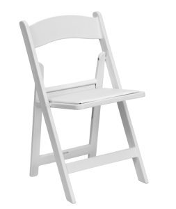 White Folding Garden Chair - Wedding Chairs
