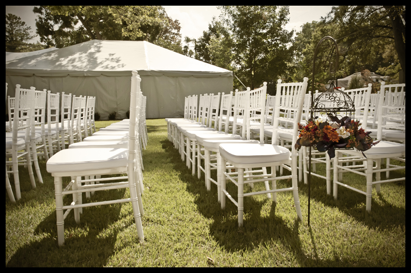 White Chiavari Wedding Chairs