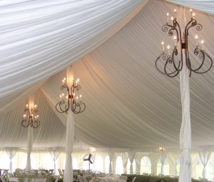 Georgia Tent Chandelier for rent - Athens GA Wedding