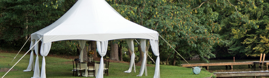 Lake Oconee Tent Rental Setup