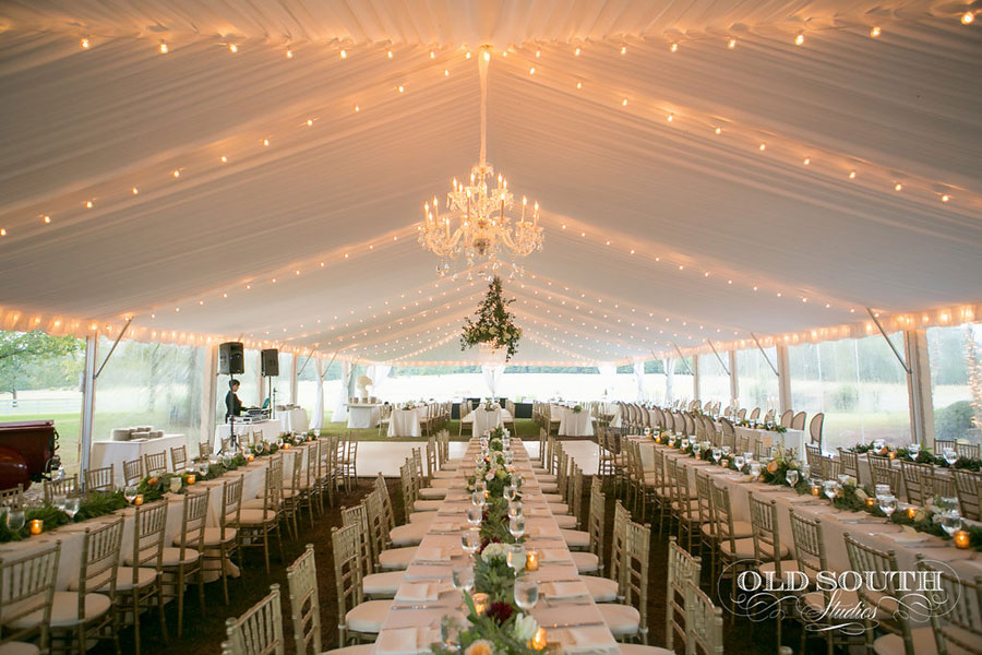 Wedding Tent String Lighting Goodwin Events