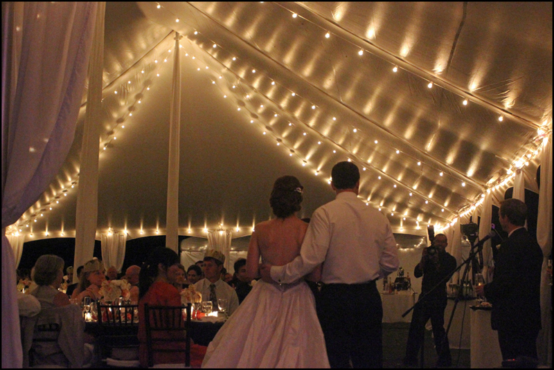 Bistro Lighting Tent Rental