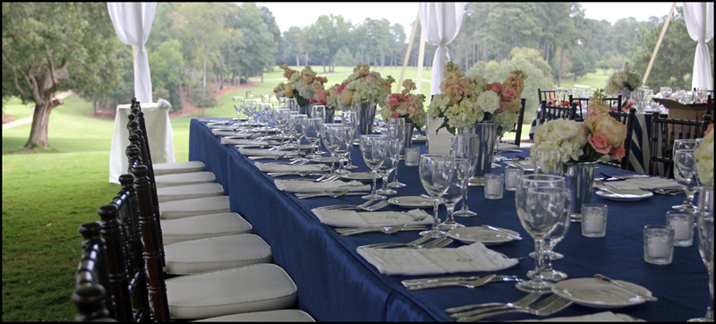 King estate table for a wedding