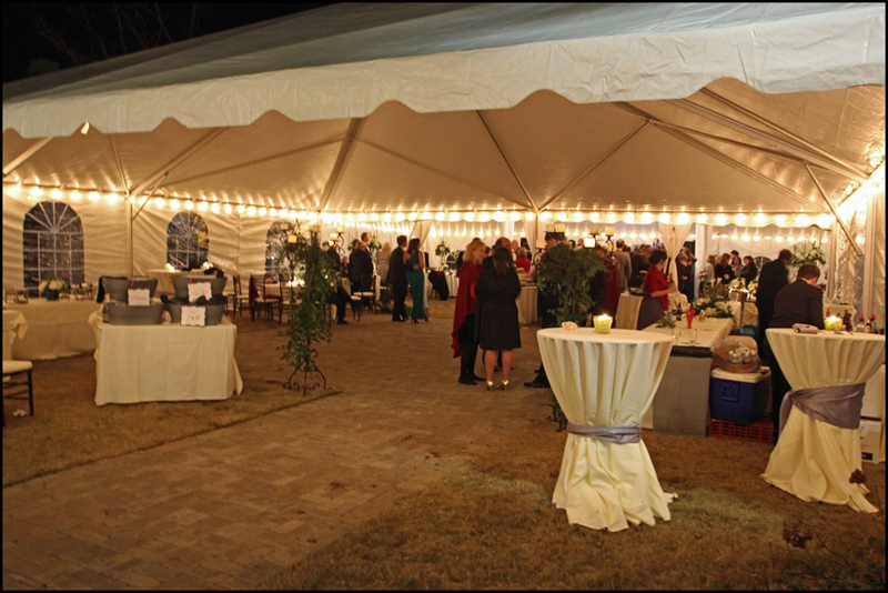 Entrance Tent for Trumps Catering in Athens GA