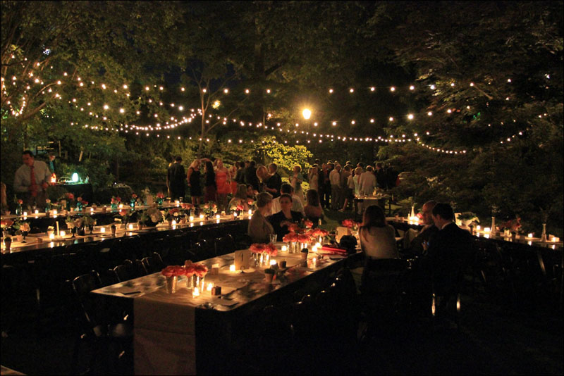 Backyard String Lights Ideas