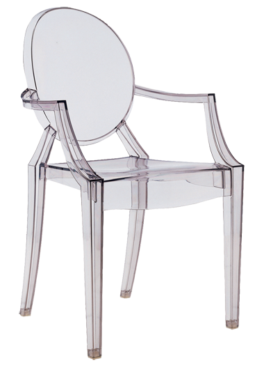 Louis ghost chair rental clear wedding chairs ghost chairs - Chaises polycarbonate transparent ...