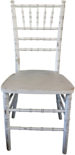 Antique Whitewash Chiavari Chair Rental