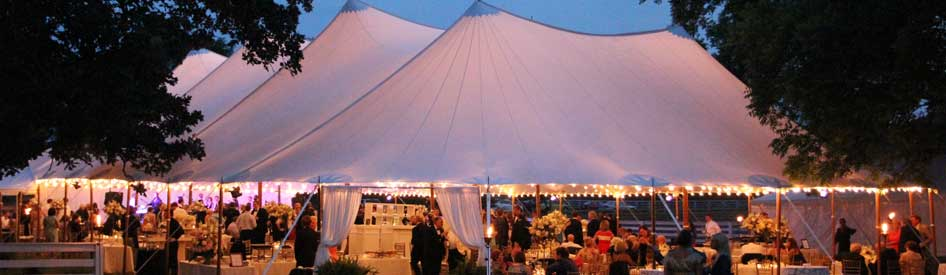 Sailcloth Tent Wedding in Athens GA