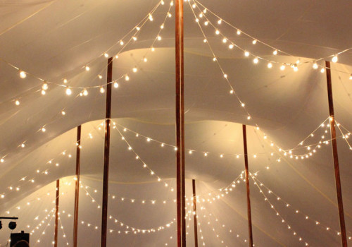 String Lights In A Tent Sailcloth