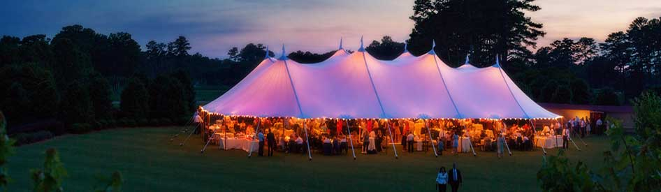 Sailcloth Tent at the Cherokee Town and Country Club