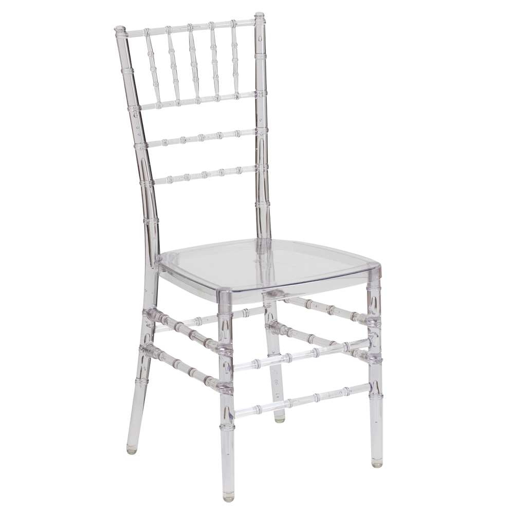 Crystal Ice Chiavari Clear chairs for rent
