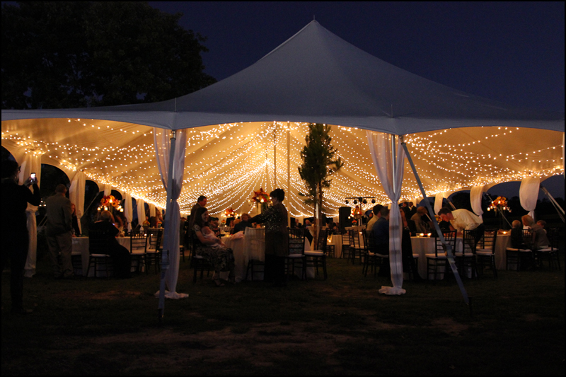 How To Decorate Poles In Tent For Wedding