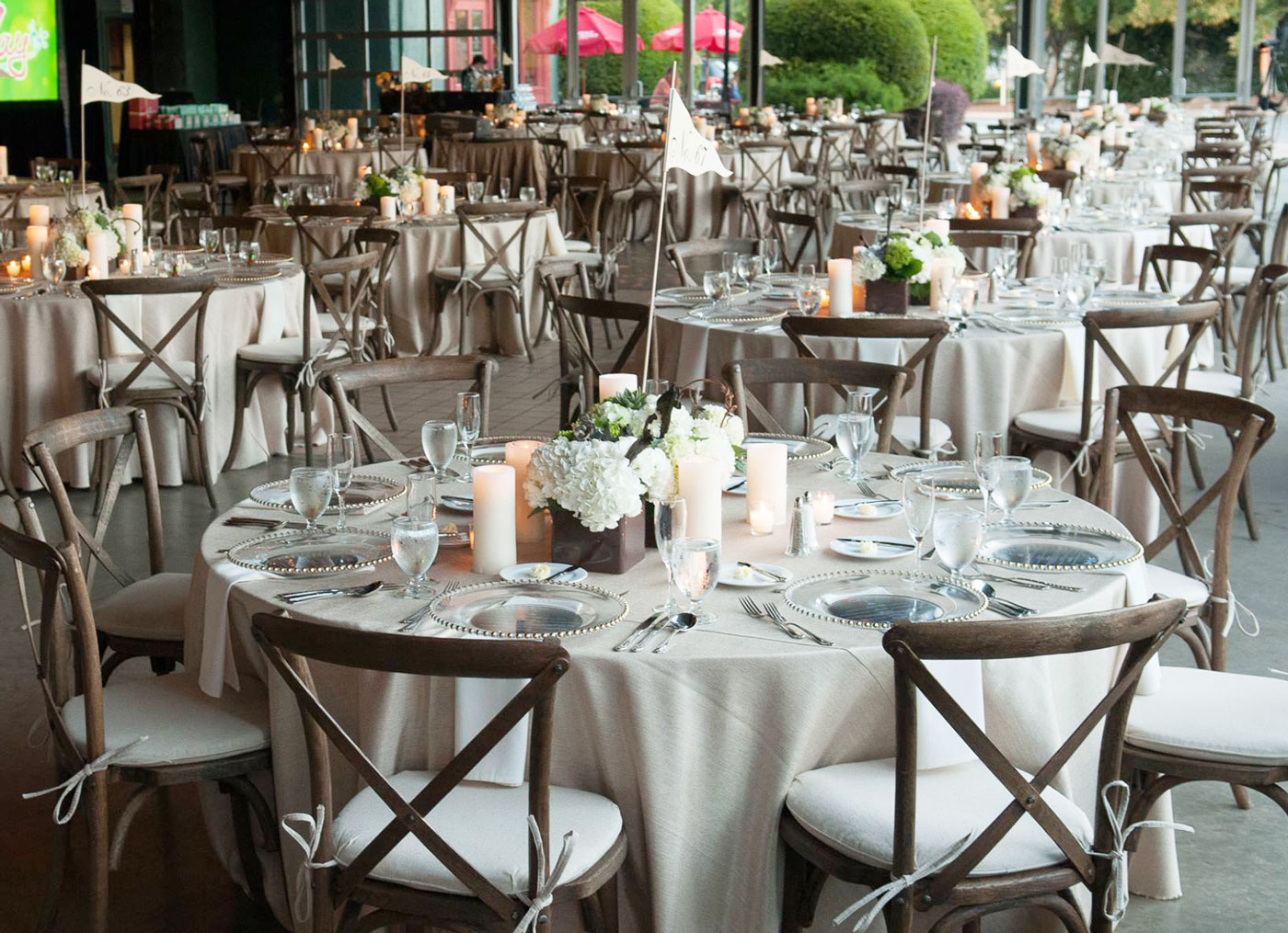 crush rentals champagne satin linens bella file table calgary luxury linen