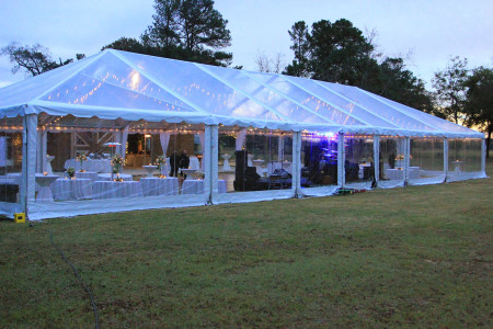 clear tent with clear sides