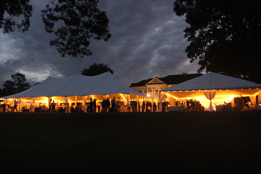 How To Light A Wedding Tent