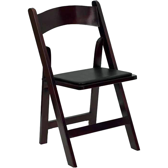 Mahogany Folding Chair Dark Wood Chair