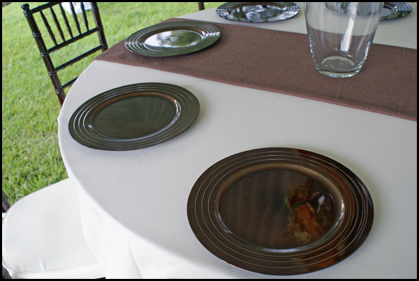 Chocolate Brown Charger Plates