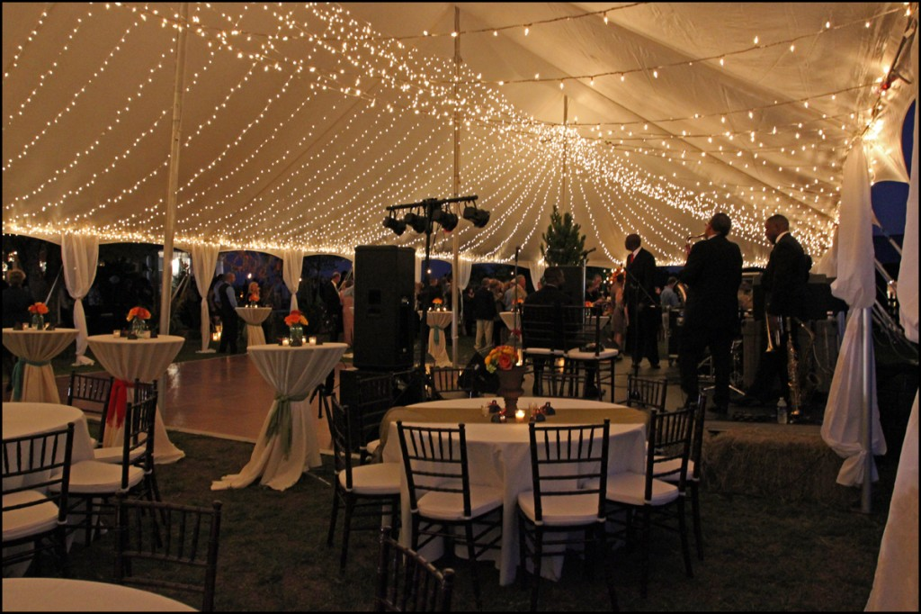 Father of the Bride Tent Lighting