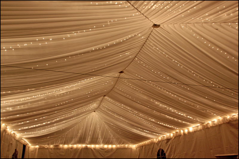 Father of the Bride Tent Liner Lighting Lights