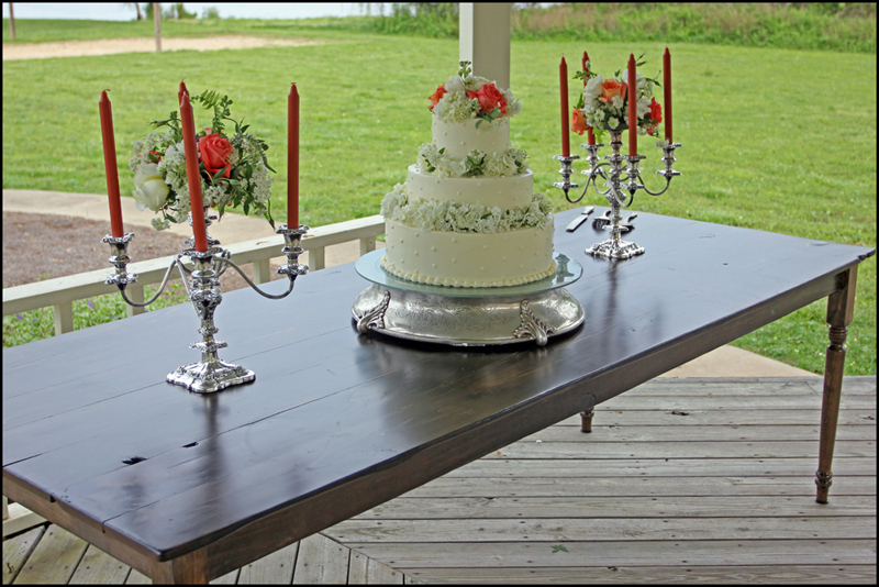 Farm Wedding Cake Table