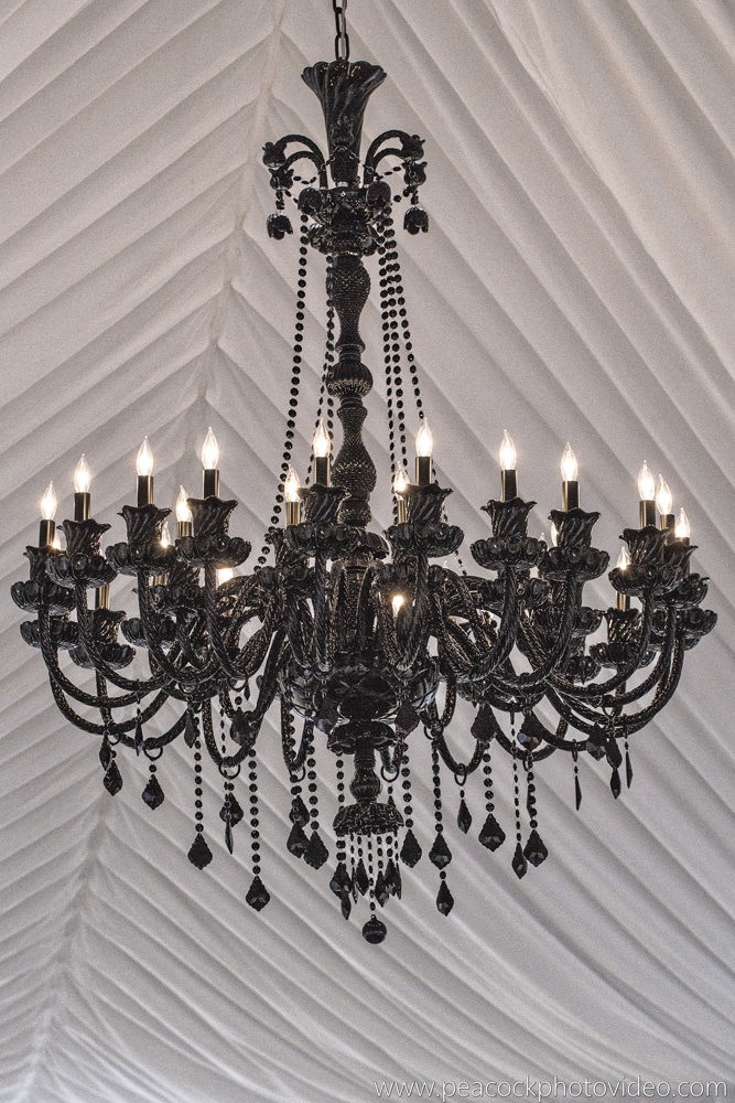 Chandelier with tent liner
