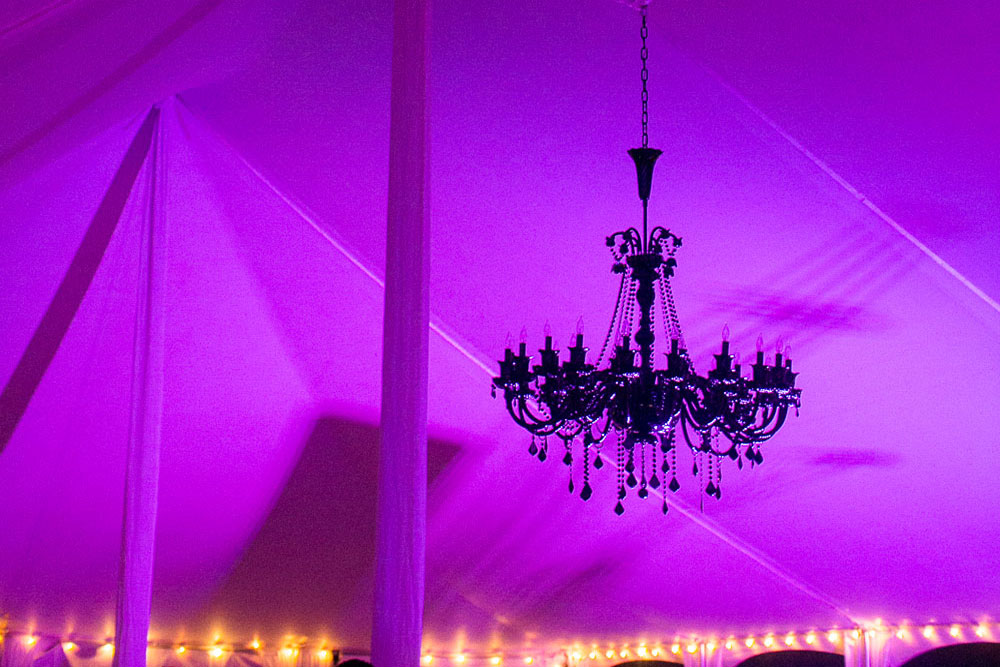 Colored Tent With Lights 2