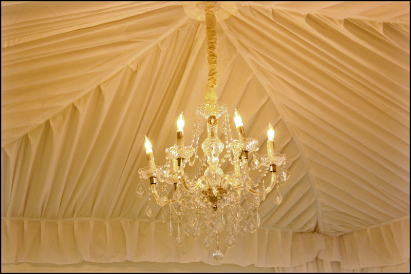 Wedding Tent Chandelier