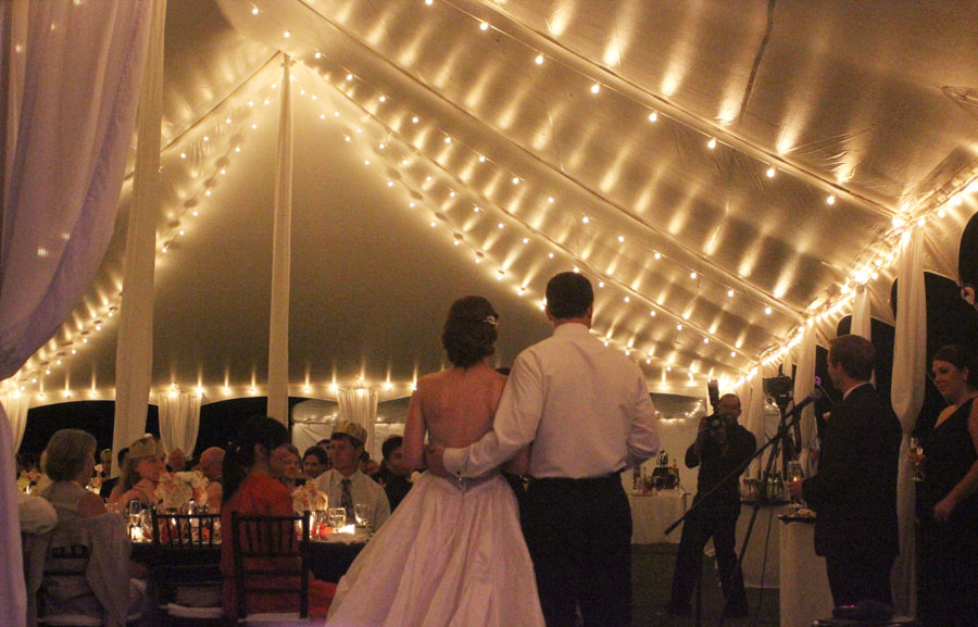 Pole tent lighting ideas