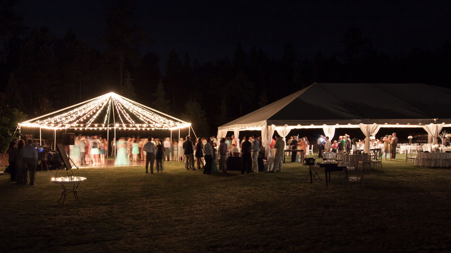 Open-Air-Frame-Tent-Lighting & Tent Lighting Ideas | String Lights | Photo | Goodwin Events