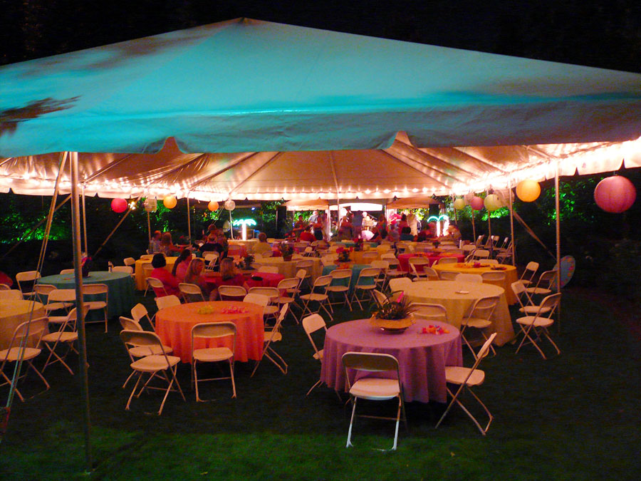 Tent perimeter lighting with cafe lights & Tent Lighting Ideas | String Lights | Photo | Goodwin Events