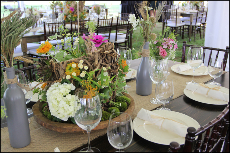 Wedding flower ideas goodwin events for Jardin madison menu