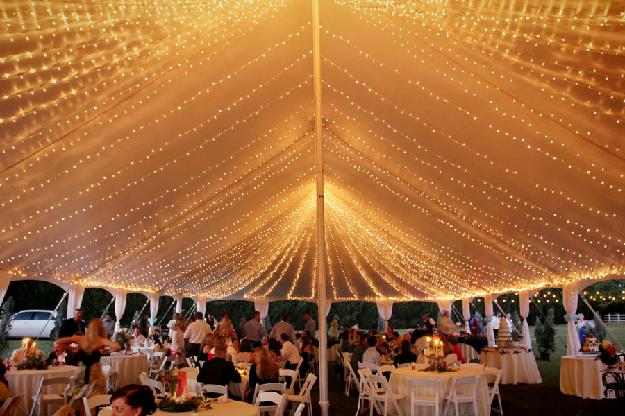 tent-with-twinkle-lights & Tent Lighting Ideas | String Lights | Photo | Goodwin Events
