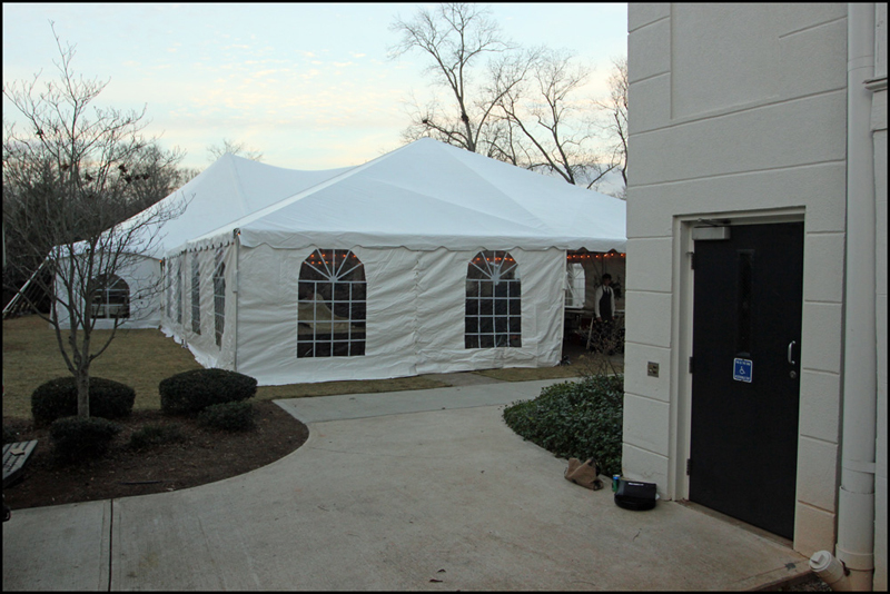 Taylor Grady Wedding Tent Set up