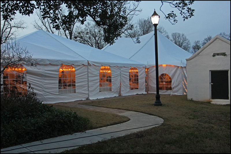 Party Tent at Taylor Grady House Wedding
