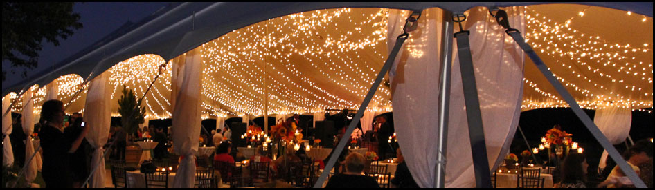 Beautiful Wedding Tent Lighting