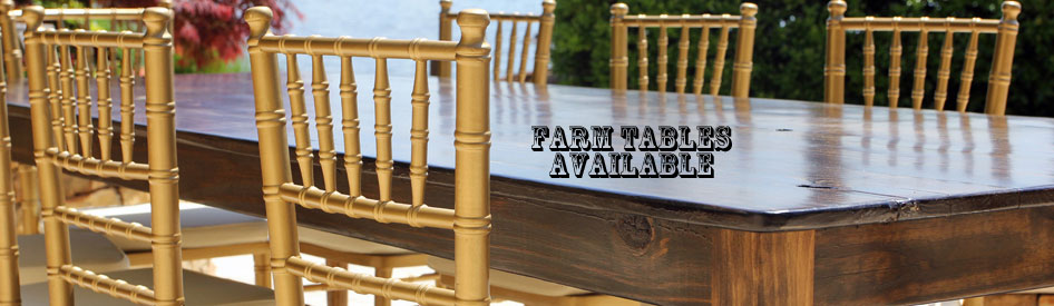 Farm Table Rental for Weddings