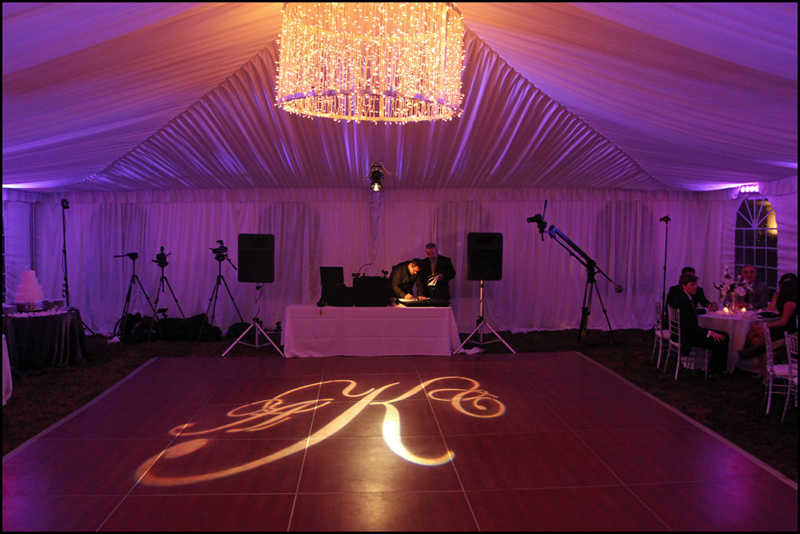 wedding monogram dancefloor