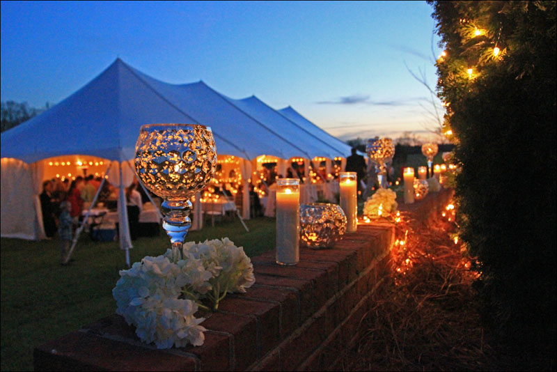 Gorgeous wedding tent