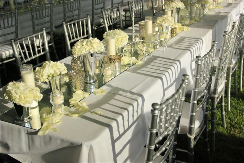 Silver and White Wedding Chairs