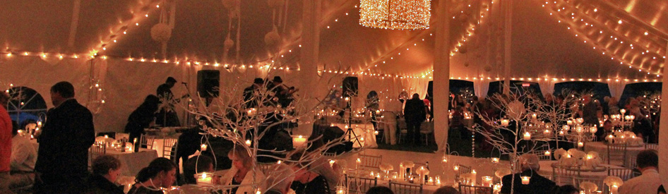 Candles in a Wedding Tent