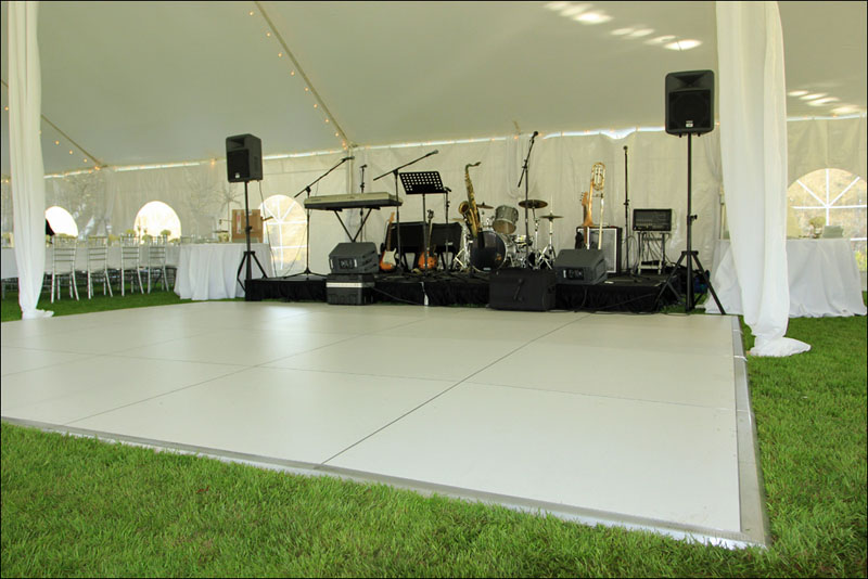 All White Dance Floor Rental