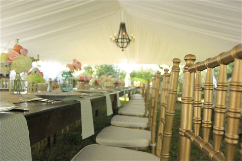 Chiavari Chairs with Farm Tables