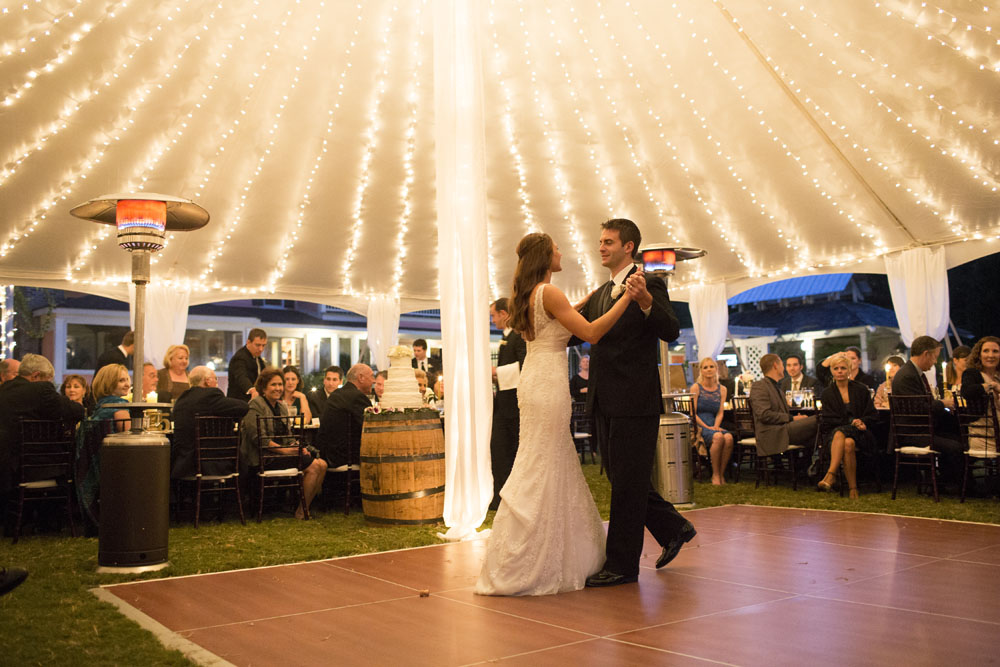 Father of the Bride Tent Photos & Tent Lighting Ideas | String Lights | Photo | Goodwin Events