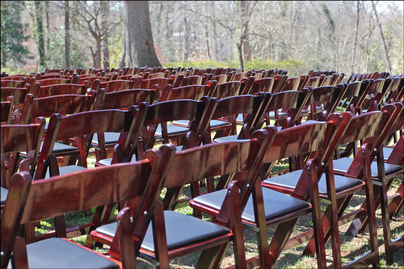 Charmant Mahogany Folding Chair Wedding