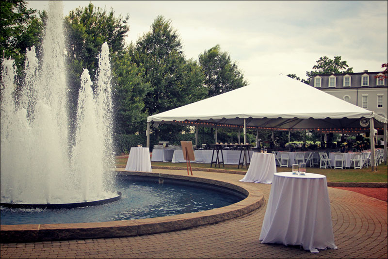 Tent Set up on Herty Field & Wedding On UGA Campus | Herty Field | UGA Chapel | Goodwin Events