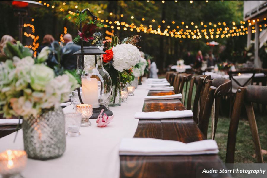 open air wedding and event lights