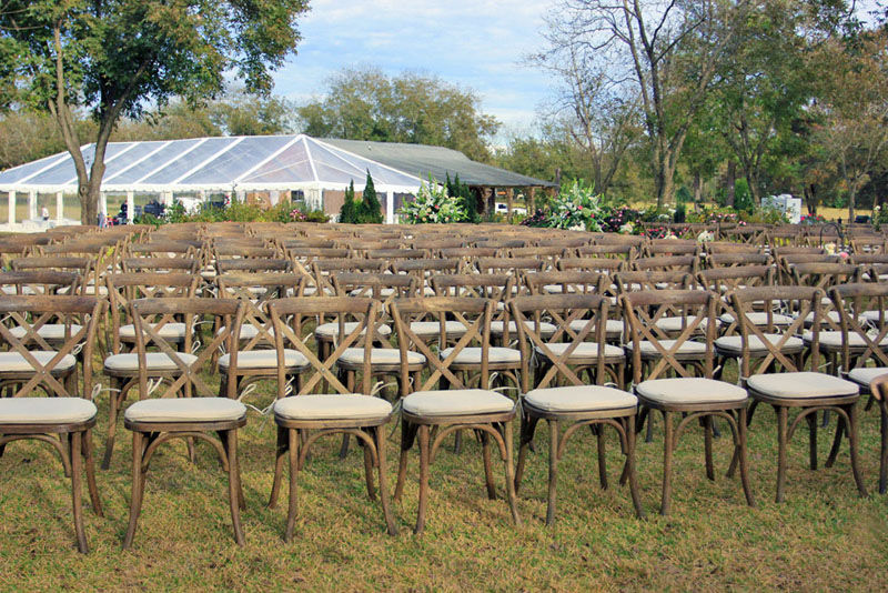 Crossback chairs wedding