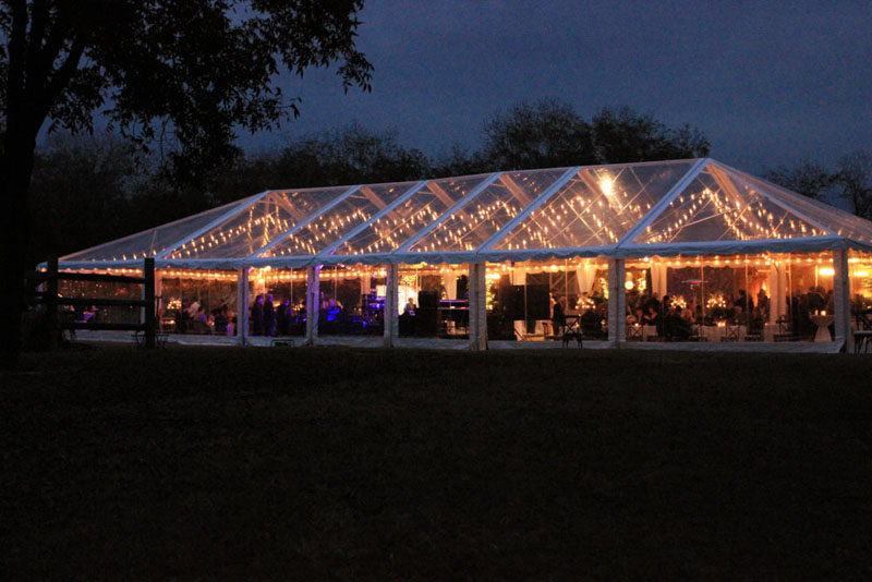 clear top tent lighting ideas