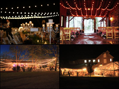 String lights for weddings events